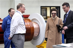 Her Royal Highness The Princess Royal was given a tour of the new facility by Arthur Grant, the Serv