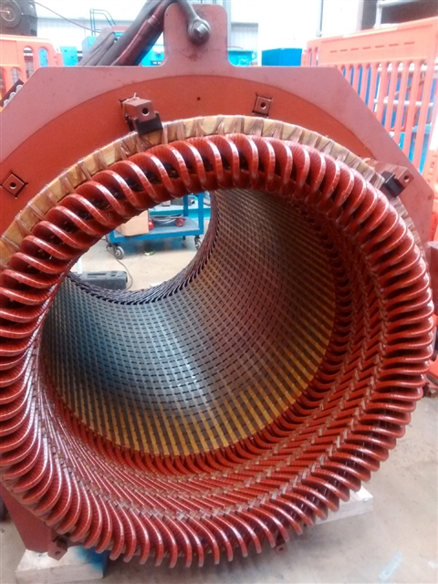Generator stator exchange completed