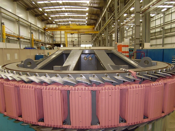 Completed Rotor pictured in the Rugby workshop prior to dispatching and installation on the Mucomir