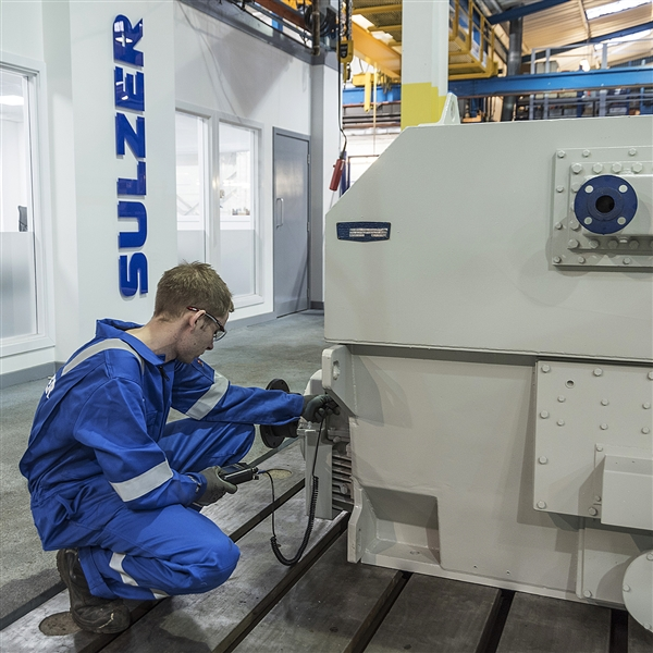 Sulzer doubles capacity of high voltage testing to improve