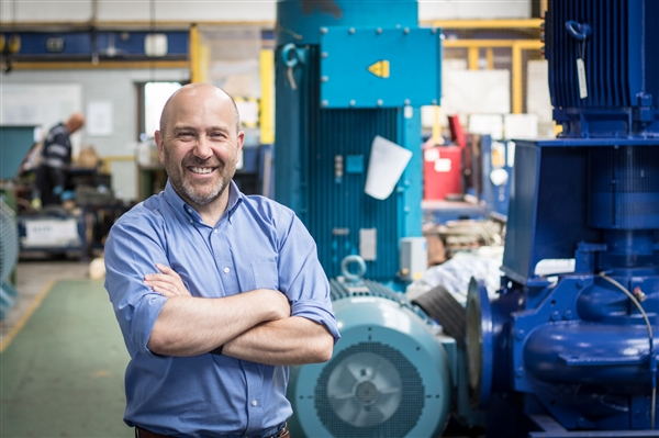 Shaun Sutton in the workshop of Central Group, Merseyside