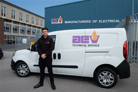 Joe Turnick of AEV with his new works van.