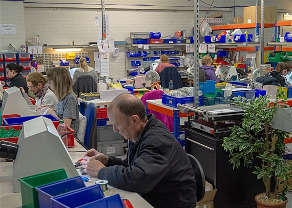 One of the flexible manufacturing areas for electronic components