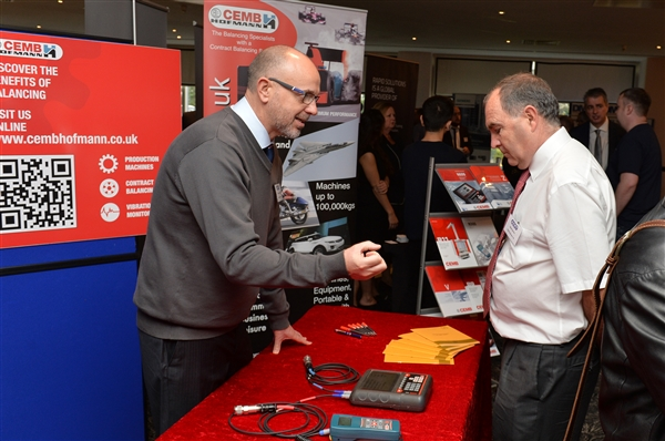 Graham Warren and Mark Davies at the CEMB Hofmann stand