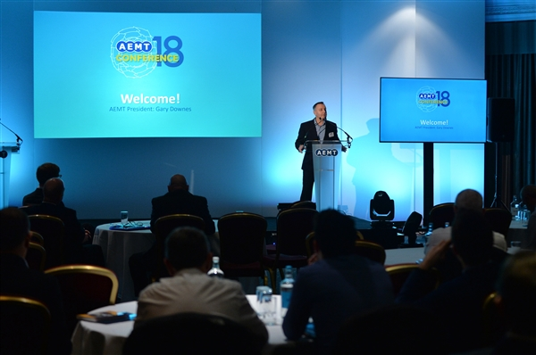 Gary Downes, AEMT President, welcomes delegates to the Conference.